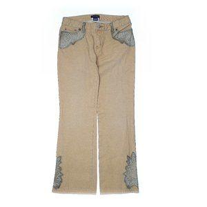 Ralph Lauren Embellished Tan Cotton Girls Jeans